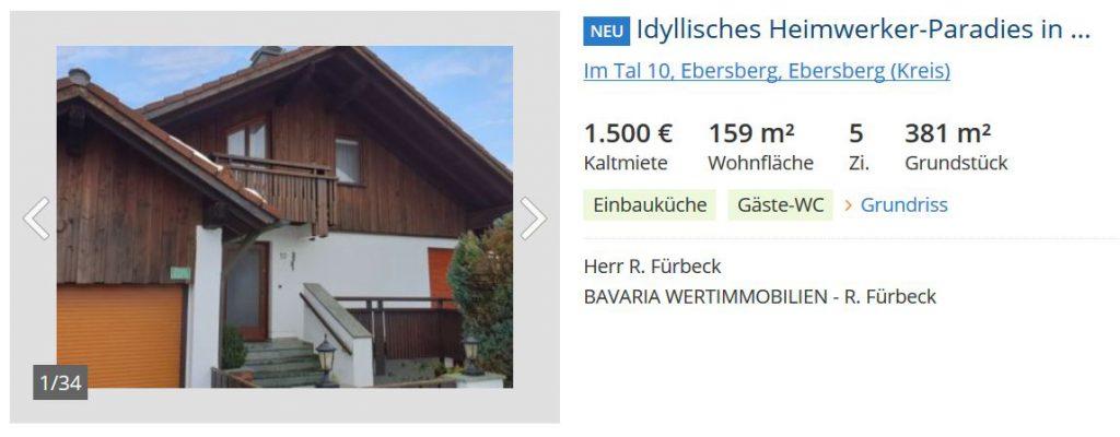 Haus in Ebersberg vermietet im Landkreis München