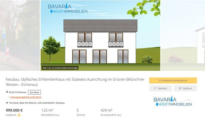 Haus mit Immobilienmakler verkauft im Münchner Westen