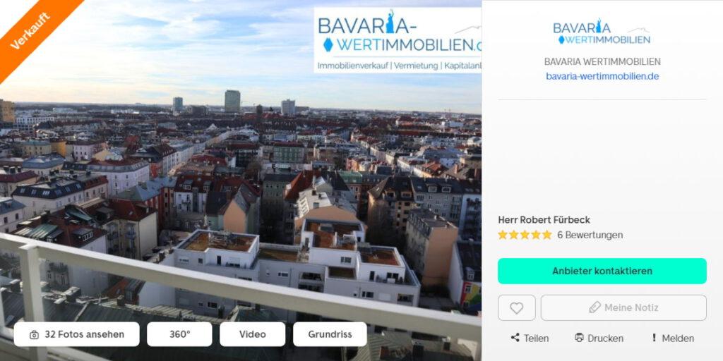 Wohnung Theresienhöhe verkauf Immobilienmakler