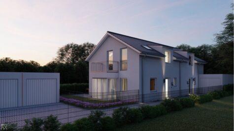 Neubau: Doppelhaushälfte mit gehobener Ausstattung und Südwest Ausrichtung in Top-Wohnlage!, 81249 München, Doppelhaushälfte