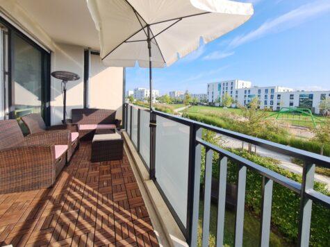 Neuwertige und schicke 3-Zimmer-Wohnung in Ramersdorf-Perlach mit Süd-Balkon, 81737 München, Etagenwohnung